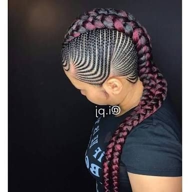 Braided Hairstyles In Nigeria Awesome Natural Hair Styles Protective Throughout Most Recent Chunky Mohawk Braid With Cornrows (View 6 of 15)