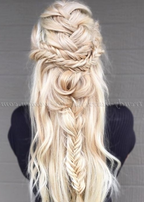 Braided Hairstyles – Messy Boho Braid | Trendy Hairstyles For Women Regarding Best And Newest Boho Braided Hairstyles (View 3 of 15)