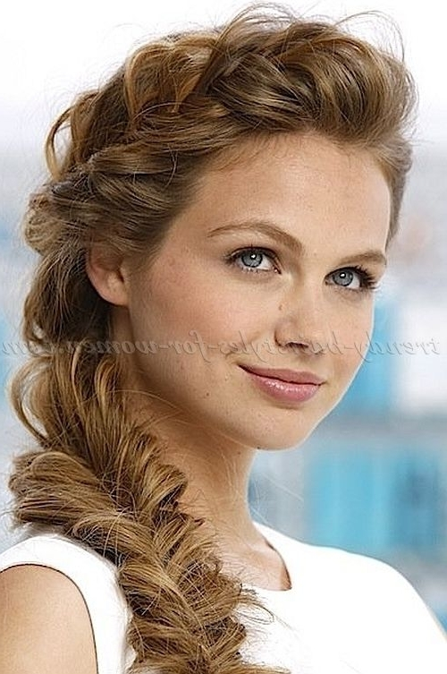 Braided Hairstyles, Plaits, Braided Hair – Loose Fishtail Braid Throughout 2018 Loosely Braided Hairstyles (View 6 of 15)