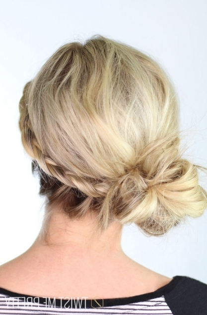Braided Messy Bun | Day 19 – Twist Me Pretty For Latest Messy Bun Braided Hairstyles (View 13 of 15)