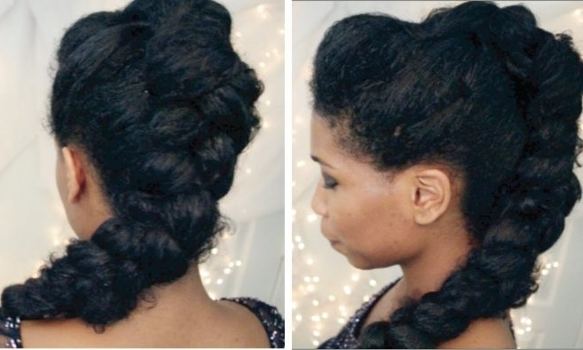 Braided Mohawk Fancy Updo – African American Hairstyle For Most Popular Fiercely Braided Hairstyles (View 10 of 15)