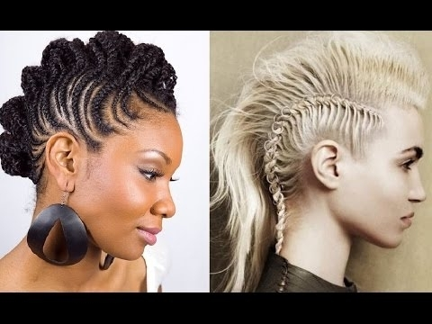 Braided Mohawk Hairstyles – Youtube Pertaining To Recent Mohawk Braided Hairstyles (View 10 of 15)