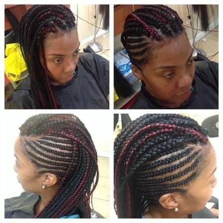 Braided Mohawk With Individual Braids In The Middle $ (View 5 of 15)