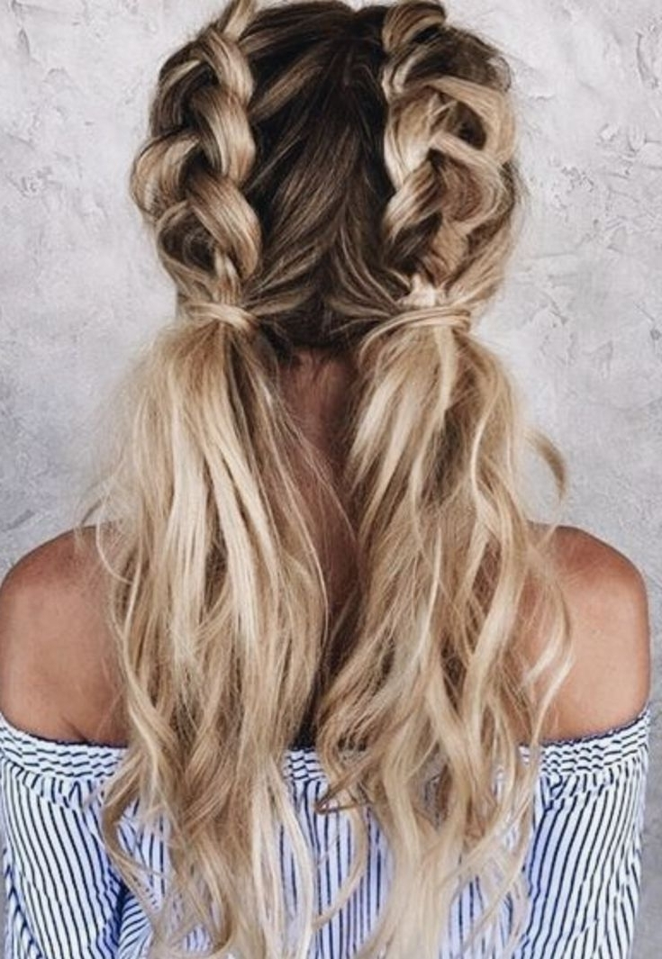 Braided Piggy Tails – Pinterest @ My Blessinggrace   Hair Within Most Recent Pigtails Braids With Rings For Thin Hair (View 9 of 15)