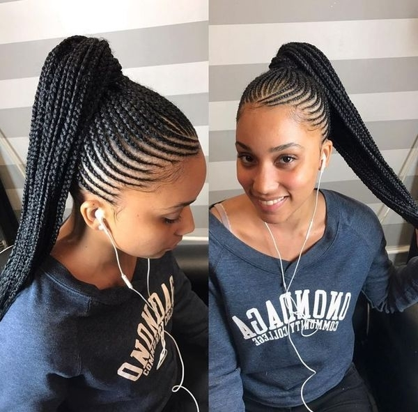 Braided Ponytail Hairstyles For Black Hair Black Ponytail Hairstyles Inside Best And Newest Black Braided Ponytail Hairstyles (View 8 of 15)