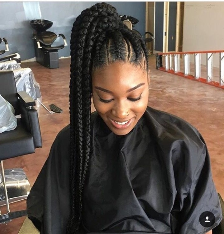 Braided Ponytail Hairstyles For Black Hair – Leymatson Throughout Current Braided Hairstyles For Black Hair (View 14 of 15)