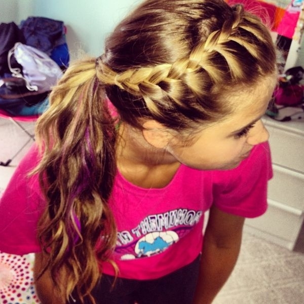Braided Ponytail Hairstyles, Hair Braided Into A Ponytail Pictures With Most Recently French Braids Into Pigtails (View 12 of 15)