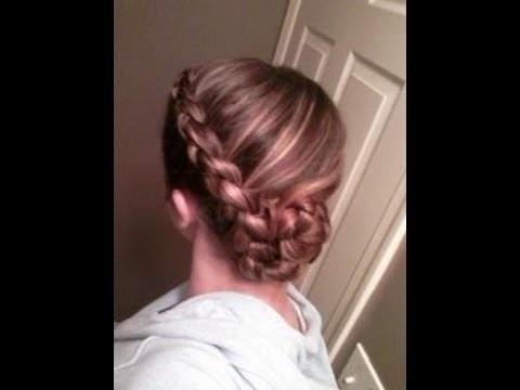 Braided Side Swooped Bun: Hair Tutorial – Youtube In Latest Braided Bun With Two French Braids (View 10 of 15)