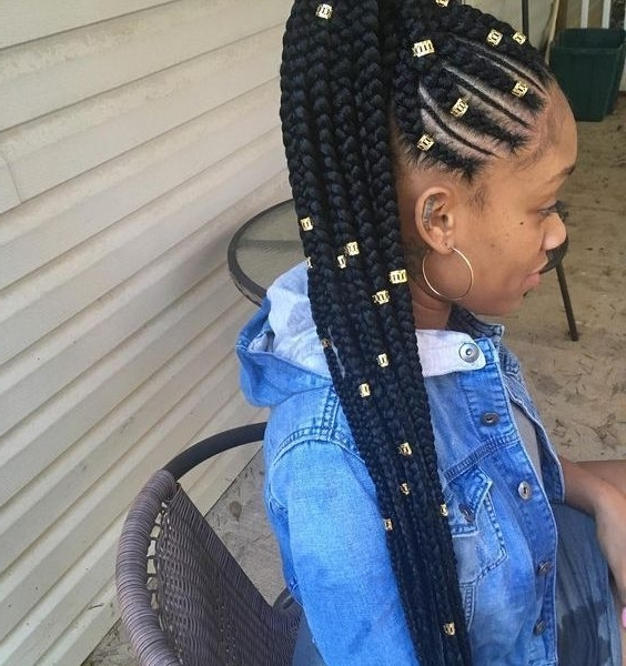 Braided Up Hairstyles With Weave : Styling Hairstyle 2018 – Styling With Most Up To Date Cornrows Hairstyles Going Up (View 11 of 15)