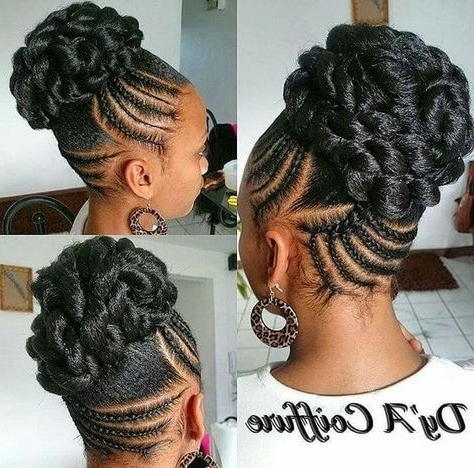 Braided Updos For Black Hair | Braided Tresses | Pinterest | Updos For Most Up To Date Mixed Braid Updo For Black Hair (View 12 of 15)