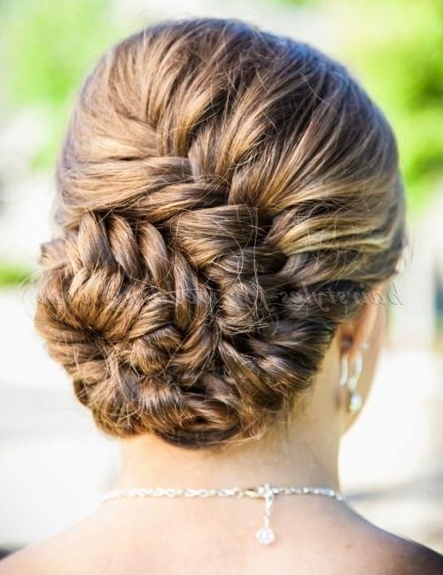 Braided Wedding Hairstyles – Braided Bun Wedding Hairstyle Inside Recent Braided Updo Hairstyles For Weddings (View 9 of 15)