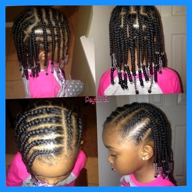 Braiding Hairstyles For Little Girls To Bring Your Dream Hairstyle In Newest Cornrow Hairstyles For Little Girl (View 15 of 15)