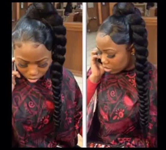 Braiding #ponytail #weave #updos | Weave Updos | Pinterest | Updos Within Best And Newest Side Ponytail Braids With A Twist (View 8 of 15)