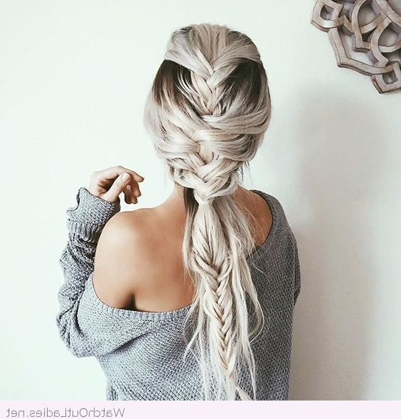 Braids And White Hair Color … | Hair | P… Within Recent Braided Hairstyles For White Hair (View 4 of 15)