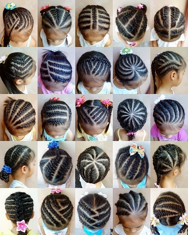 Braids For Kids Nice Hairstyles Pictures   Chlo's Wig   Pinterest Inside Recent Easy Cornrows Hairstyles (View 10 of 15)