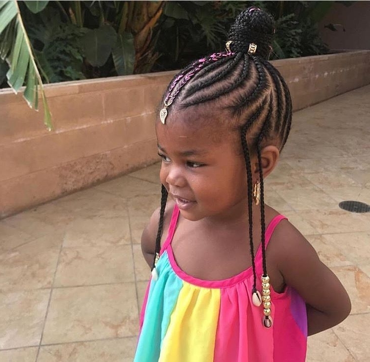 Braids Going Up Into A Twisted Bun | Cute Styles ~ Jazzi's Hair With Most Popular Cornrows Hairstyles Going Up (View 2 of 15)