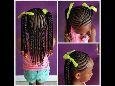 Braids Hairstyles For Black Kids – Youtube With Most Recent Braided Hairstyles For Kids (View 15 of 15)