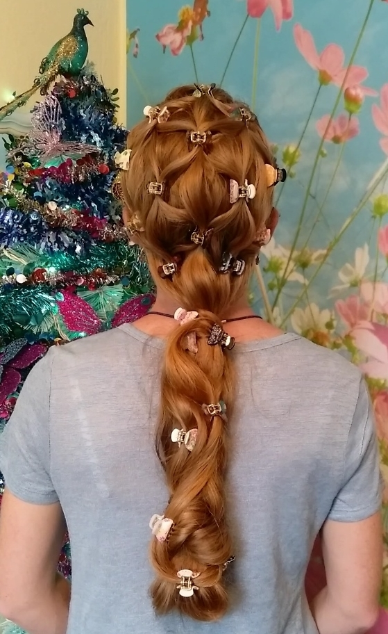 Braids & Hairstyles For Super Long Hair: Butterfly Lattice Hairstyle In Most Recent Lattice Weave With High Braided Ponytail (View 14 of 15)