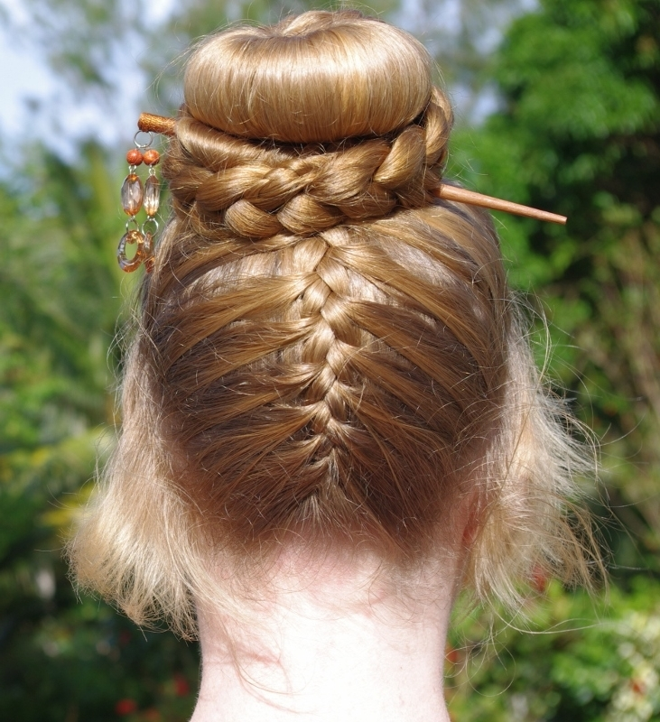 Braids & Hairstyles For Super Long Hair: Upside Down French Braid Within Latest Upside Down Braids With Double Buns (View 12 of 15)
