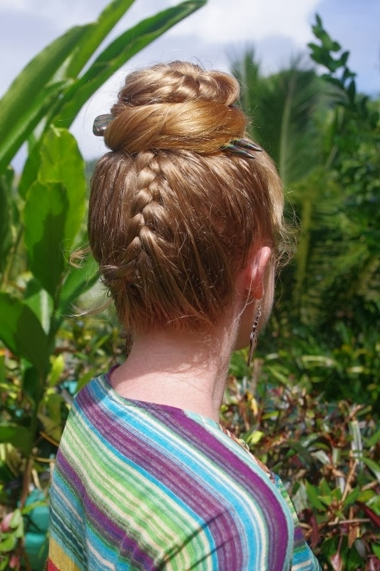 Braids & Hairstyles For Super Long Hair: Upside Down Lace Braid Topknot Intended For 2018 Upside Down French Braid Hairstyles (View 12 of 15)