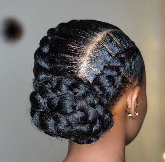 Bulky Hair Braid | Black Girl Braids | Pinterest | Hair Style With Regard To Most Up To Date Bulky Braided Crown Bun (View 15 of 15)
