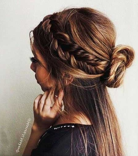 Bun And Braid Summer Hairstyles Inside Latest Braided Hairstyles For Summer (View 10 of 15)