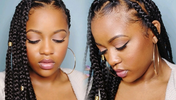 Can't Grip Those Roots? Try Box Braids Using The Rubberband Method In Most Recent Braid Hairstyles With Rubber Bands (View 4 of 15)