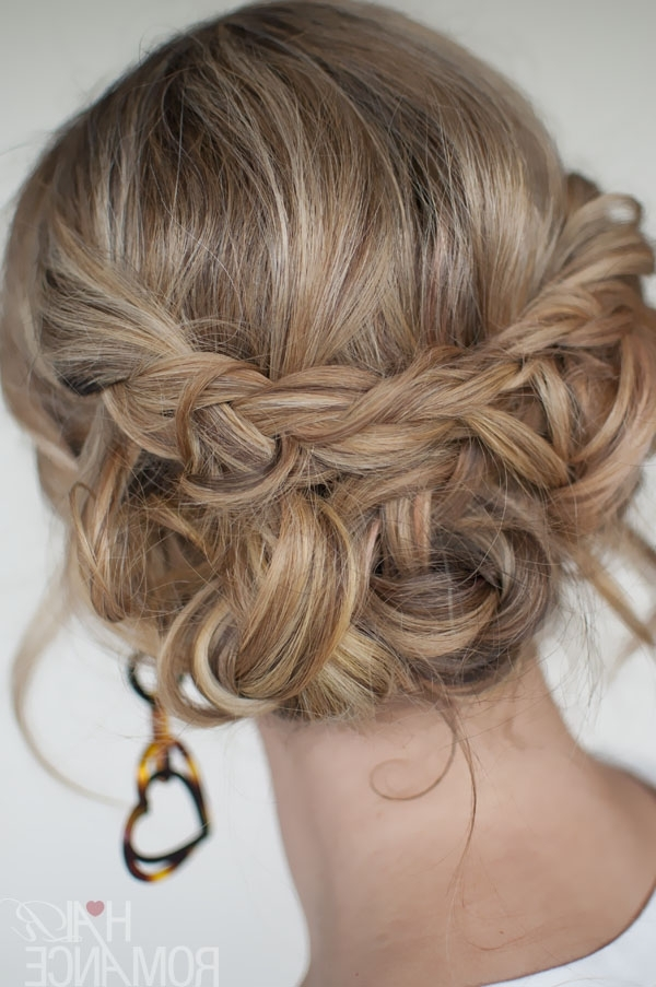 Casual Messy Braided Updo – The Best Braided Updos For Parties Throughout Newest Unique Braided Up Do Hairstyles (View 13 of 15)