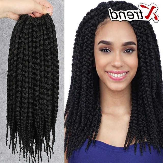 Cheapest 12'' 75G Box Braids Hair Crochet Multi Color Synthetic With Current Multicolored Jumbo Braid Hairstyles (View 11 of 15)