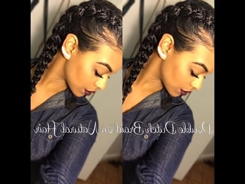 Chelliscurls | Double Dutch Braid Tutorial – Youtube Pertaining To Best And Newest Dutch Braid Crown For Black Hair (View 8 of 15)