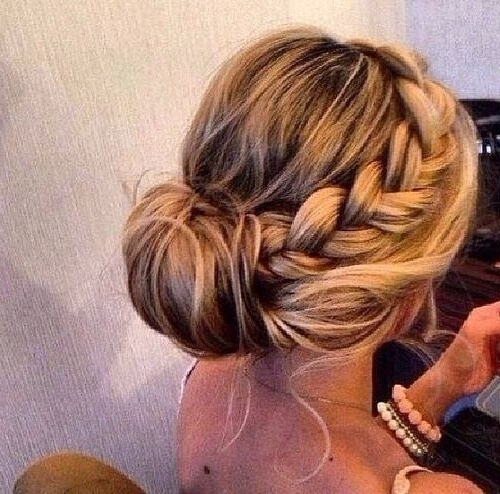 Chic Braided Bun   Hair Styles   Pinterest   Wedding, Big And Hair Style Regarding Newest Braided Hairstyles With Buns (View 5 of 15)