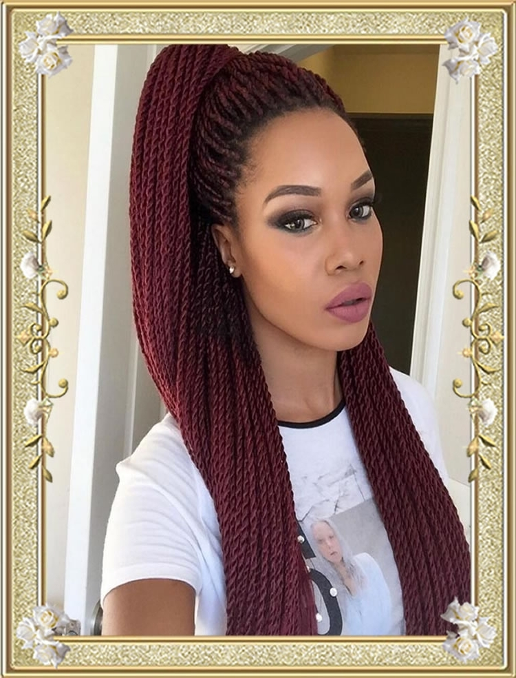 Chocolate Hair Color Box Braided Hairstyles For Black Women – Hairstyles Inside Most Up To Date Braided Hairstyles With Color (View 10 of 15)