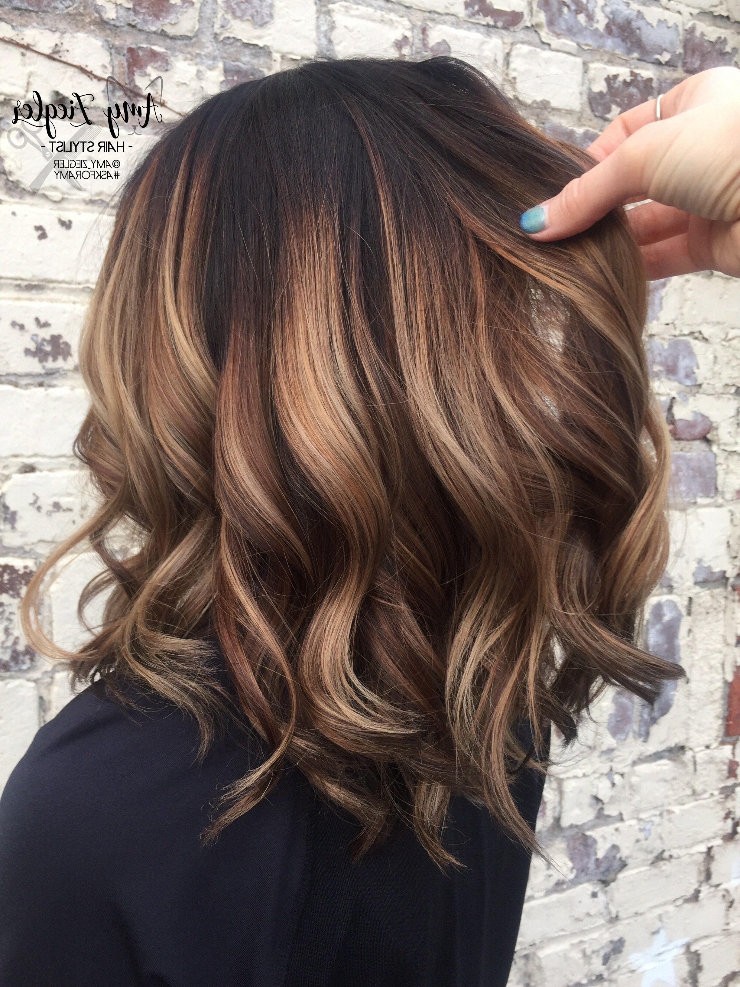 Chunky Blonde Balayage On Dark Hair@askforamy #askforamy With Most Popular Piece Y Haircuts With Subtle Balayage (View 7 of 15)