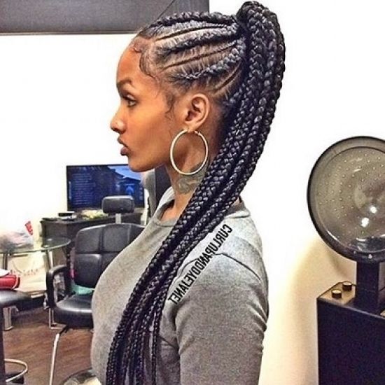 Chunky Cornrow Hairstyles Which Can Make Your Own   Right Hs Throughout Most Recent Chunky Cornrows Hairstyles (View 14 of 15)