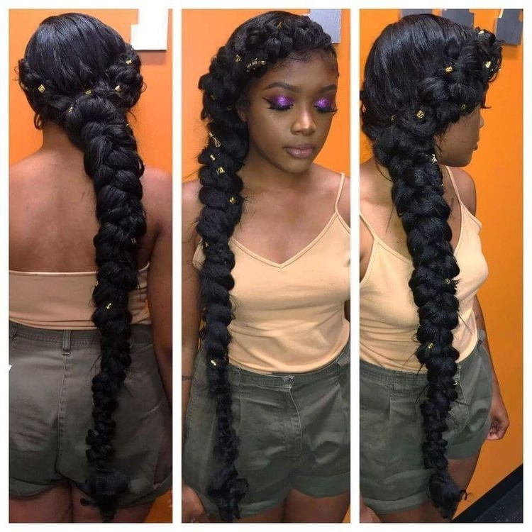 Cleopatra   Hairstyles   Pinterest   Cleopatra, Black Girls Regarding Most Popular Cleopatra Style Natural Braids With Beads (View 9 of 15)