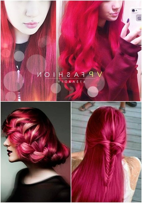 Colorful Braided Hairstyles: Diy Braids With Vpfashion Colorful Hair Intended For Best And Newest Braided Hairstyles For Red Hair (View 5 of 15)