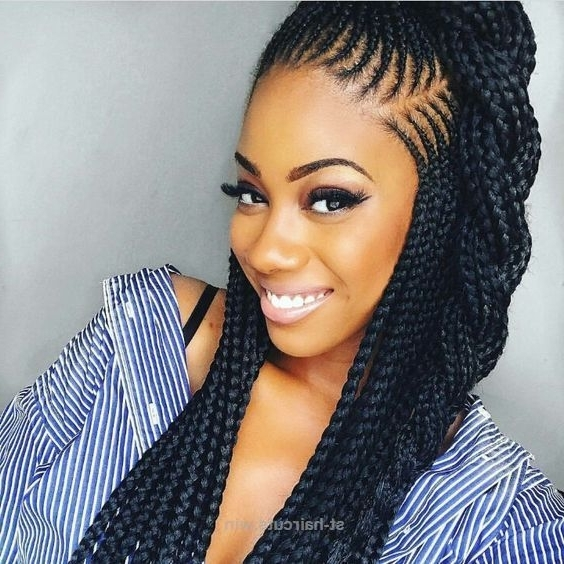 Cool 2018 Braided Hairstyle Ideas For Black Women (View 12 of 15)