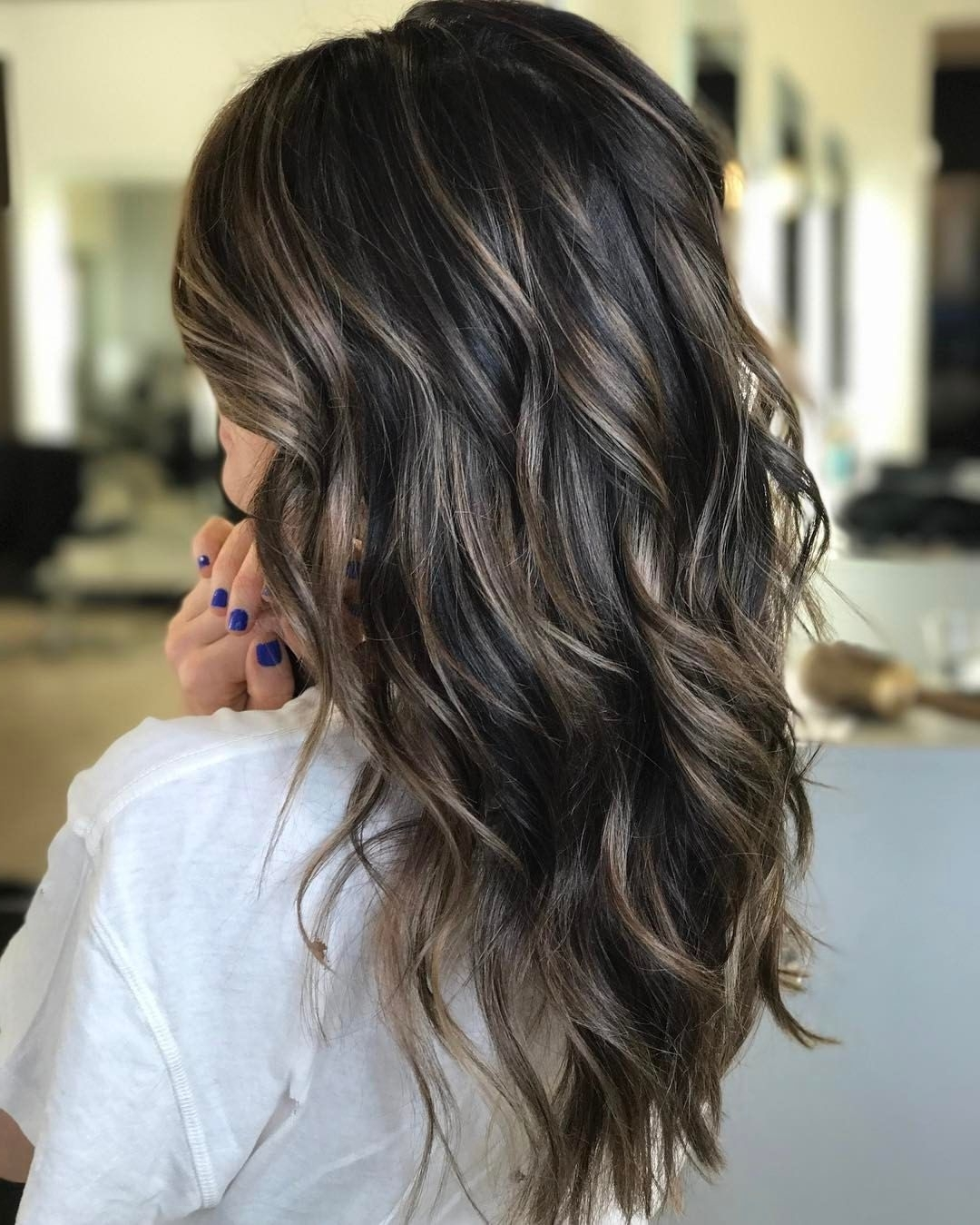 Cool Brunette + Piecey Bronde Babylights ? | Brilliant Brunettes Within Most Recent Piece Y Haircuts With Subtle Balayage (View 5 of 15)