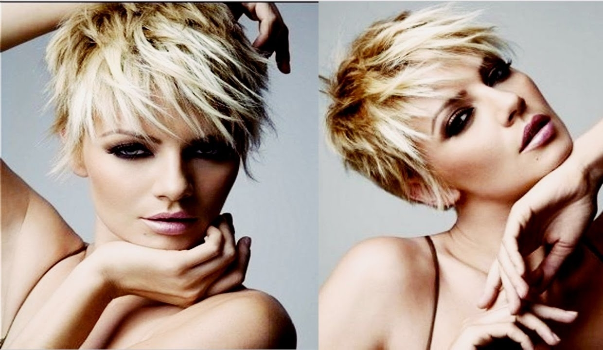 Showing Photos Of Choppy Pixie Haircuts With Side Bangs View 7 Of