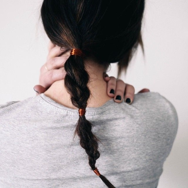 Copper Wire Wrapped Braid | To Be Clothed | Pinterest | Copper Wire Regarding Newest Side Top Knot Ponytail With Copper Wire Wraps (View 6 of 15)