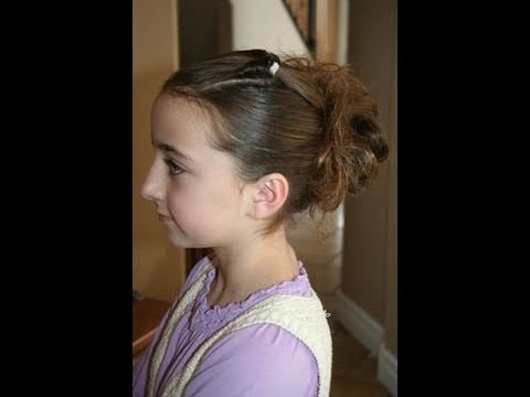 Corner Flip Into Messy Bun | Cute Girls Hairstyles – Youtube Intended For Latest Messy Flipped Braid And Bun Hairstyles (View 7 of 15)
