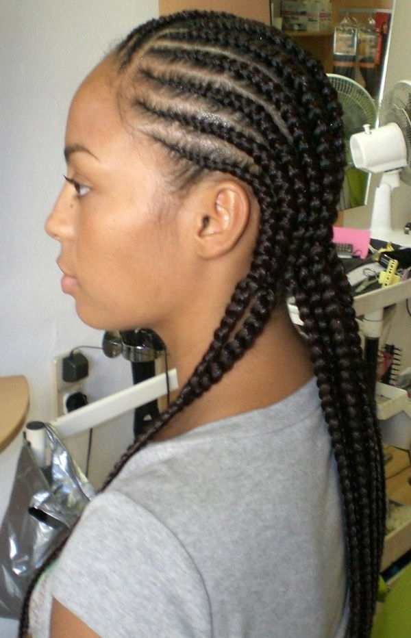 Cornrow Braid Styles, Cornrow Braid Hairstyles Intended For Recent Cornrows Hairstyles With Braids (View 2 of 15)