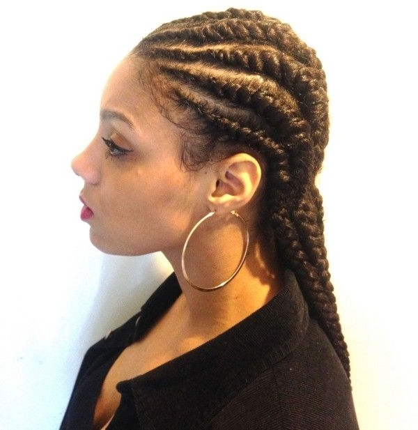 Cornrow Braid Styles, Cornrow Braid Hairstyles With Regard To Most Popular Invisible Cornrows Hairstyles (View 13 of 15)
