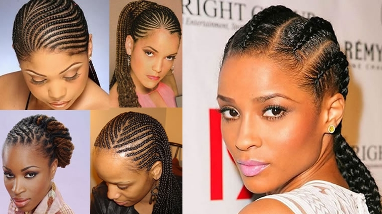 Cornrow Hairstyles For Black Women 2018 2019 – Hairstyles Throughout Newest Cornrows Hairstyles For Oval Faces (View 11 of 15)
