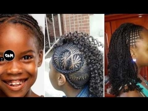 Cornrow Hairstyles For Little Girls Youtube Pictures Of Cornrow Within Current Cornrows Hairstyles For Little Girl (View 7 of 15)
