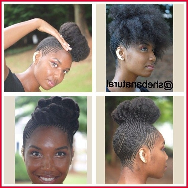 Cornrow Hairstyles For Natural Hair 224234 I Love All The Different Inside Most Current Cornrow Hairstyles Up In One (View 5 of 15)