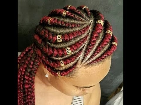 Cornrow Hairstyles For Round Faces : Beautiful Collection For Ladies With Recent Braided Hairstyles For Round Face (View 4 of 15)