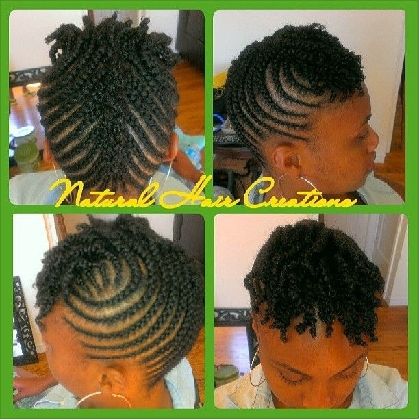 Cornrow Hairstyles For Short Natural Hair Plan Within Current Cornrows Hairstyles For Short Natural Hair (View 12 of 15)