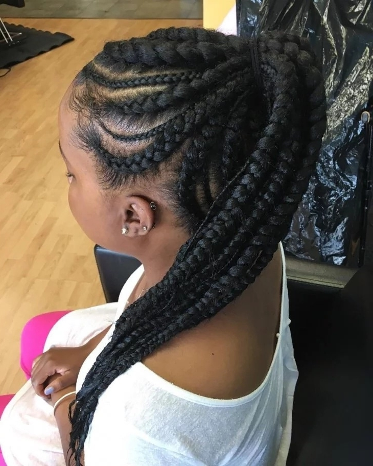 Featured Photo of Braided Hairstyles Into A Ponytail With Weave