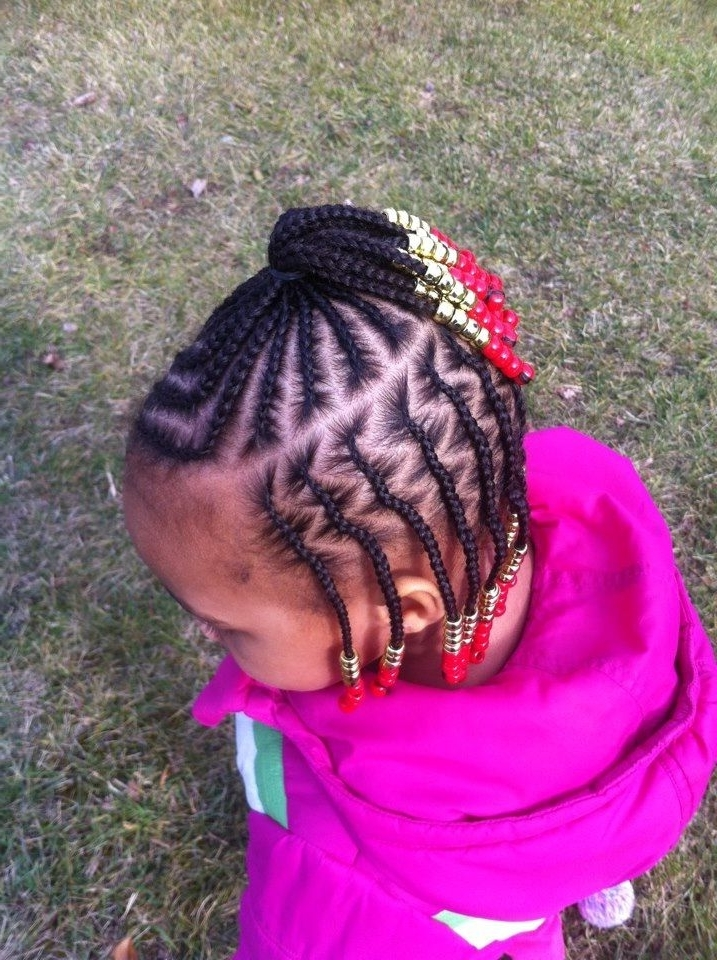 Cornrow Hairstyles Within Recent Cornrows Hairstyles For Kids (View 10 of 15)